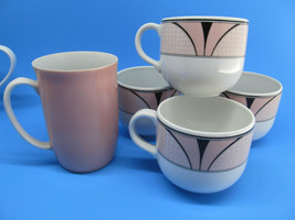 4 Royal Mosa Holland Tea cups Bonus Fitz & Floyd Mug Pink Lot 5 pieces - $12.60