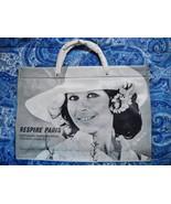 VINTAGE 1960s VINYL TOTE BAG: CHANSON COSMETICS ADVERTISING SWAG GIVEAWAY - $8.00