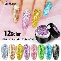 Color nail Art gel Paint Jar Pure Gel Glitter Cat Eye Decoration Venalisa 5ml  - $3.99+