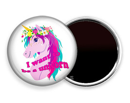 I WANT TO BE A UNICORN COLOR HAIR FRIDGE REFRIGERATOR MAGNET GIRL LOVE G... - $10.49+