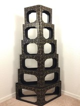 Stacking Corner Display Shelving Vintage Black Laquer And Gold Asian Tri... - $59.98