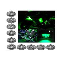 OCTANE LIGHTING 10Pc Green Led Chrome Modules Motorcycle Chopper Frame Neon Glow - $27.67