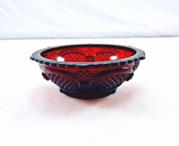 Vintage Avon Crystal-1876 Cape Cod Ruby small Dessert Bowl - $7.91