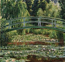 Japanese Footbridge Water Lily Pool Painting by Claude Monet Art Reprodu... - $34.99+