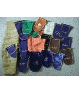Collection 25 Crown Royal Bags CAMO Velvet Reserve Suede White Brown Map... - $74.25