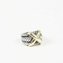 Vintage David Yurman X Crossover Sterling Silver Ring SZ 7.5 - $305.00