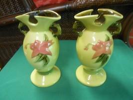 "Beautiful Pair of HULL Art Pottery  Vases   7.5"" - $29.29"