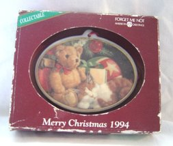 American Greetings Merry Christmas 1994 Bear and Cat Christmas Ornament  NOS - $9.99