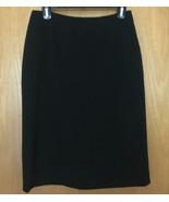 Ralph Lauren Black Rayon Blend Lined Career Pencil Skirt Sz 10P Petite - $34.50