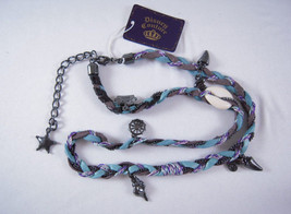 Disney Couture Blue Braided Leather Wrap w/Charms - $84.65