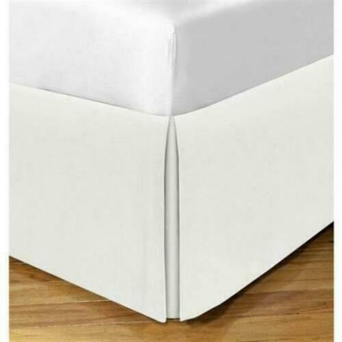 Todays Home Levinsohn Basic Cotton 200TC Tailored 14 in. Bed Skirt Ivory - Queen