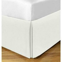 Todays Home Levinsohn Basic Cotton 200TC Tailored 14 in. Bed Skirt Ivory - Queen image 1