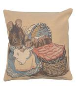Hunca Munca Beatrix Potter Belgian Sofa Pillow Cover - $36.00
