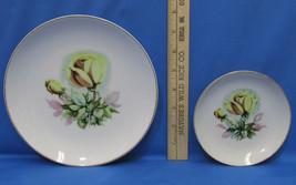 Original Arnari Creations Ceramic Plate Yellow Rose Gold Trim Made Japan... - $9.89