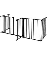 Fence Isolation Safety Fence Hearth Gate Metal Fire Gate Pet Safe TkEasys - $150.48