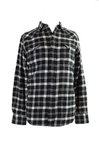 Polo Ralph Lauren Mens Cotton Plaid Button-Down Shirt Black-Ivory S,3876-4 - $32.33