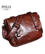BDF New Luxury Men Shoulder Business Laptop Bag Genuine Leather Briefcas... - $76.03