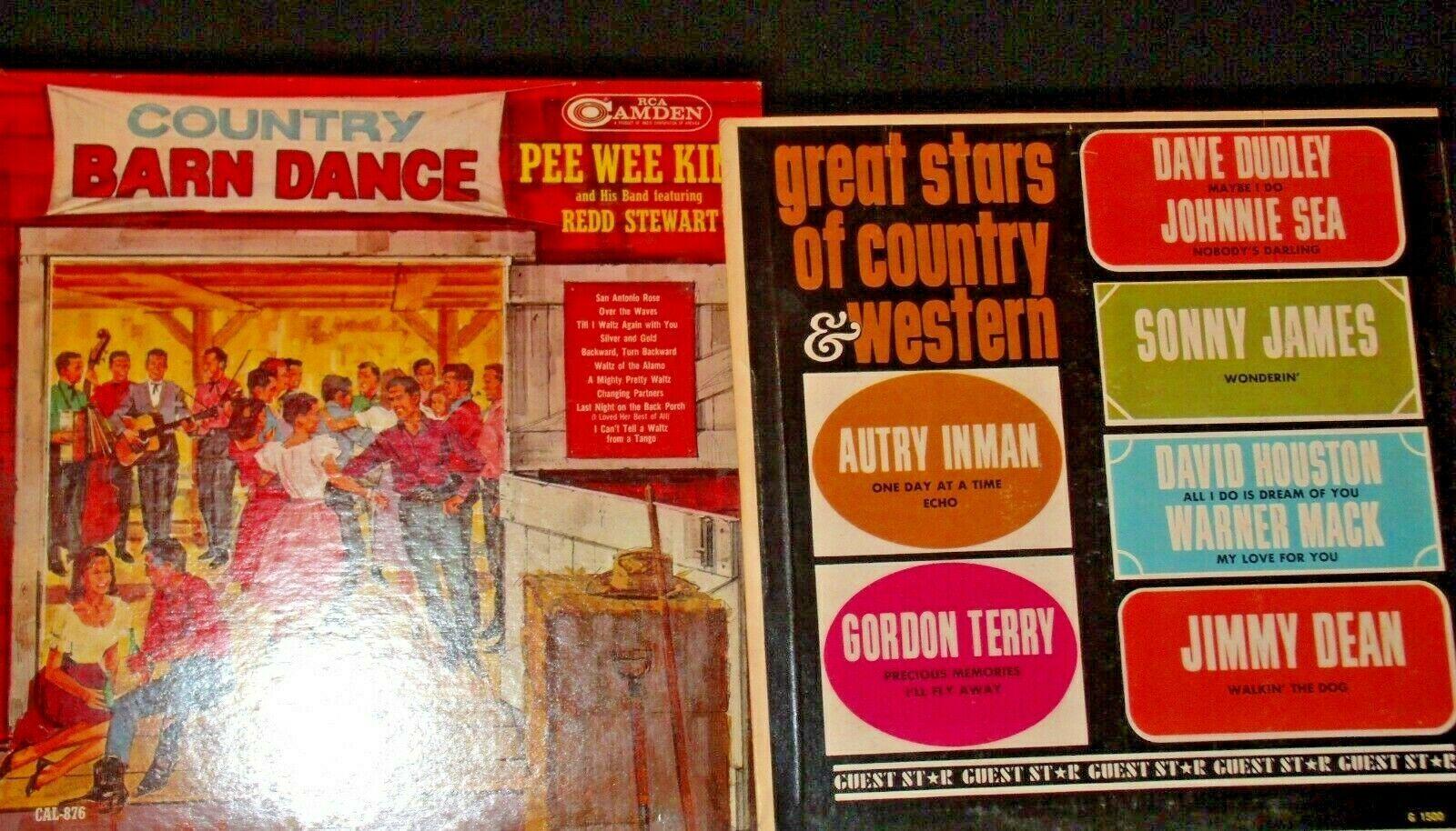 Country barn dance Pee Wee Kingand The Country Folks Eldon Combs AA-192003 Vint