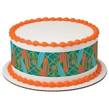Feathers-Orange Edible Cake Topper Image Strips - $9.99