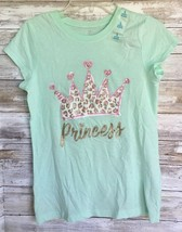"""Justice Girls Mint Tee """"Princess"""" with crown Top Size Large NEW with sti... - $9.90"""