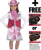 Cowgirl Costume Set + Free Melissa & Doug Scratch Art Pad Bundle [42727] - $39.35