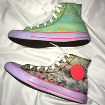 Converse RARE Print sz 7 Women/5 Men Floral Stripe Purple Camo Athletic ... - $58.61