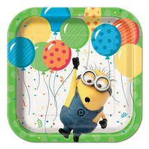 Despicable Me 3 Minion Cake Dessert Plates 8 Count by Unique Birthday Su... - $3.94