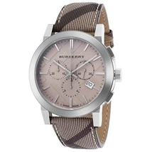 Burberry Women's Watch BU9358 The City Swiss Chronograph Smoked Check Strap  - $257.00