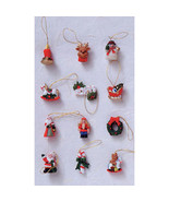 "HOLIDAY CRAFT 12 pc Resin Ornaments w/ Blister Card- Xmas Figures 3/4""  ... - $0.99"
