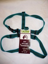 Formay Nylon Pet Harness 5/8 Inch Dog Harness Green W Blue 14 to 20 Inch - $12.86