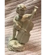 Angel Playing Cello Ceramic Porcelain Figurine - $58.50