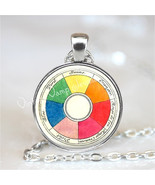 Artist Pendant Color Wheel Necklace, Art Teacher Gift, Artists Jewelry, ... - $12.95
