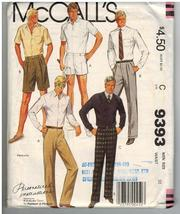 McCalls Uncut Sewing Pattern #9393 Size C Men's... - $7.50
