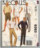 McCalls Uncut Sewing Pattern #9393 Size C Men's Pants or Shorts Waist Si... - $7.50
