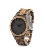 Handmade Wooden Quartz Wrist Watch BOBO BIRD D30 Men Bamboo Wood Links - £23.82 GBP