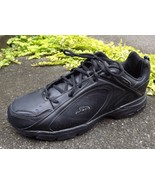 Mens Dr Scholl's Black Leather Tennis Athletic Sneaker Shoe Gel Large Si... - $37.62