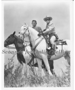 Lone Ranger Clayton Moore and Tonto Jay Silverhills Silver Scout 8x10 Photo - $6.92