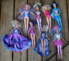 Lot of Fairytale/Ballerina/Superhero Barbies 8 Dolls in Lot - $24.95