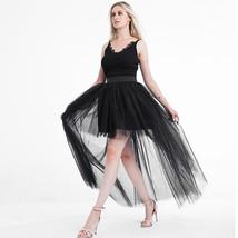 White Hilo Over-skirt / Wedding Bridal Wear Tulle Skirt / White Open Tulle Skirt image 8