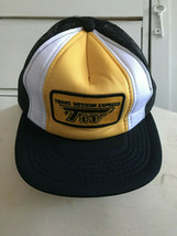 Vintage Snapback Trucker Hat Trans Western Express TW Made by Athletic Headwear - $15.14