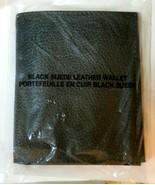 "NEW Avon Black Suede Men's Leather Wallet Bi-Fold Pebble Texture 3.5"" by 4"" - $13.86"