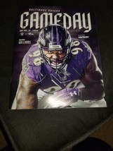 Baltimore Ravens GAME DAY Program Multi Autographs Brandon Carr, Cyrus J... - $24.00