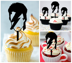 Mu6 Decorations cupcake toppers david bowie Silhouette Package : 10 pcs - $10.00