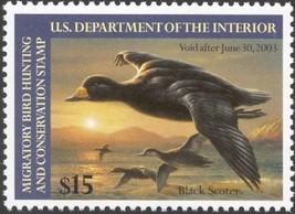 RW69, $15.00 Black Scoter Duck Stamp VF OG NH -Stuart Katz - $24.95