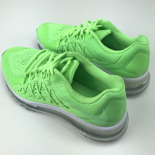 new arrival e63d1 f5d40 Nike Air Max 2015 Size 6.5 Womens 5Y Big Kid GS Voltage Green White 705457  New