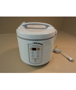 Aroma Rice Cooker Slow Cooker Steamer 20 Cup White ARC-2000A Aluminum Pl... - $28.66