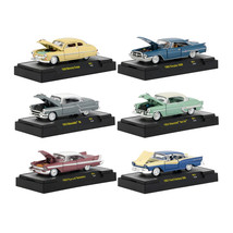 Auto Thentics 6 Cars Set Release 51 IN DISPLAY CASES 1/64 Diecast Model ... - $49.97