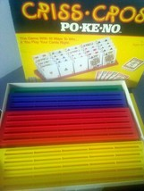 Vintage and Criss Cross PO-KE-NO Game Racks and Chips Only - $14.85