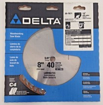"Delta 35-7671 8"" x 40 Teeth Woodworking Saw Blade 15° Hook Angle USA - $23.76"
