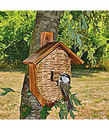 Grass birdhouse with roof - $13.95